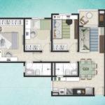 Planta 68M² - 3 dormitórios